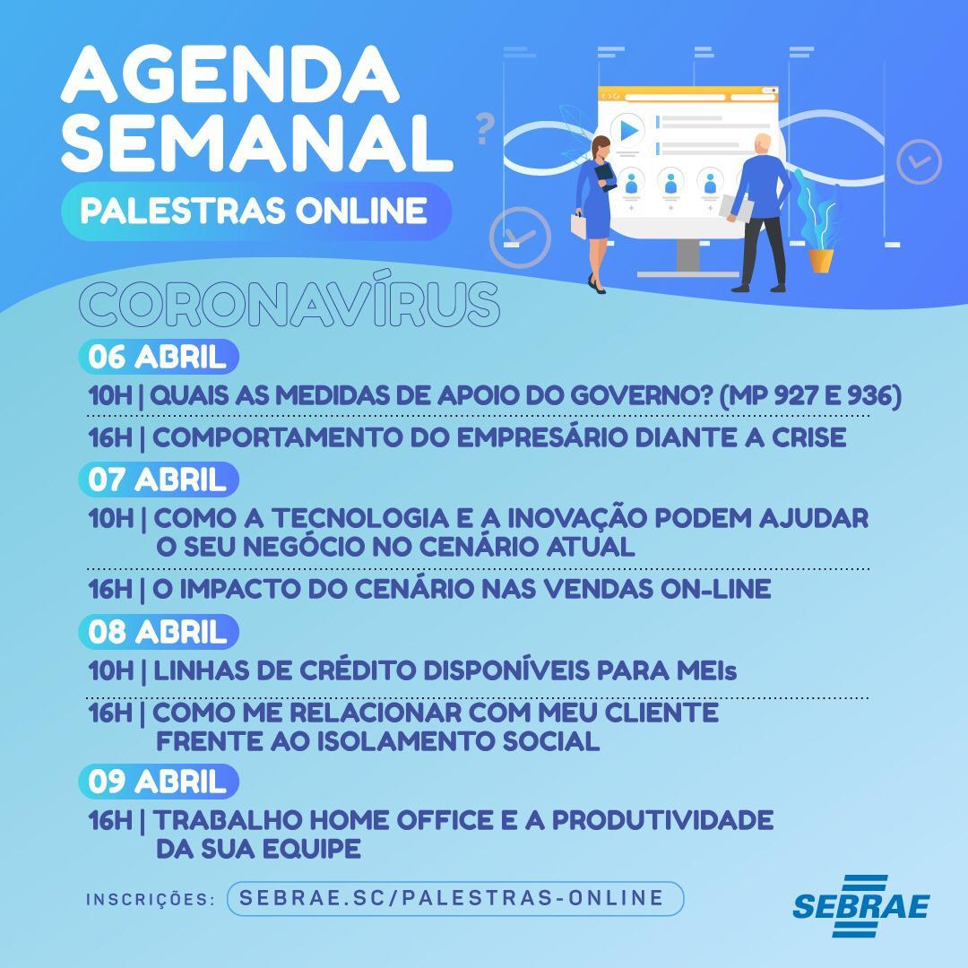 Sebrae/SC promove série de palestras online
